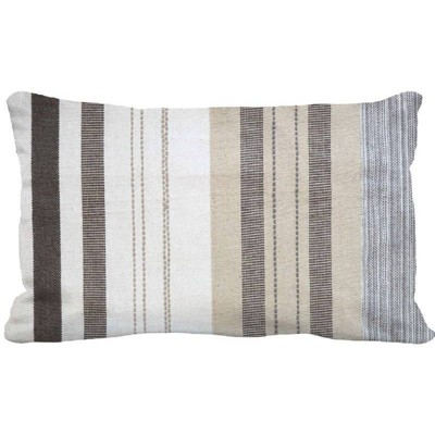 Woven Stripe Oversized Lumbar Pillow Neutral Multi - Threshold™