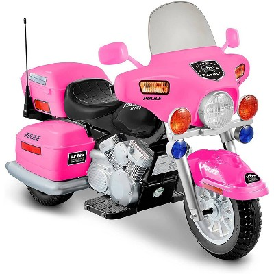 Kid Motorz 12V Police Motorcycle Powered Ride-On - Pink