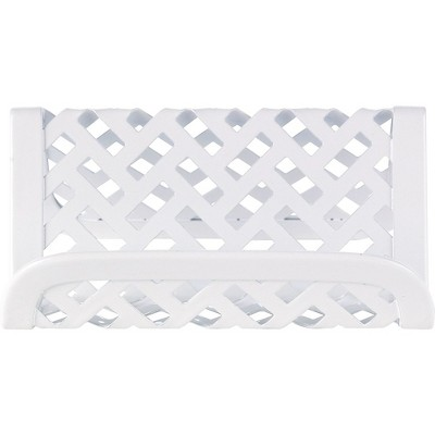 Staples White Zigzag Business Card Holder 1116759
