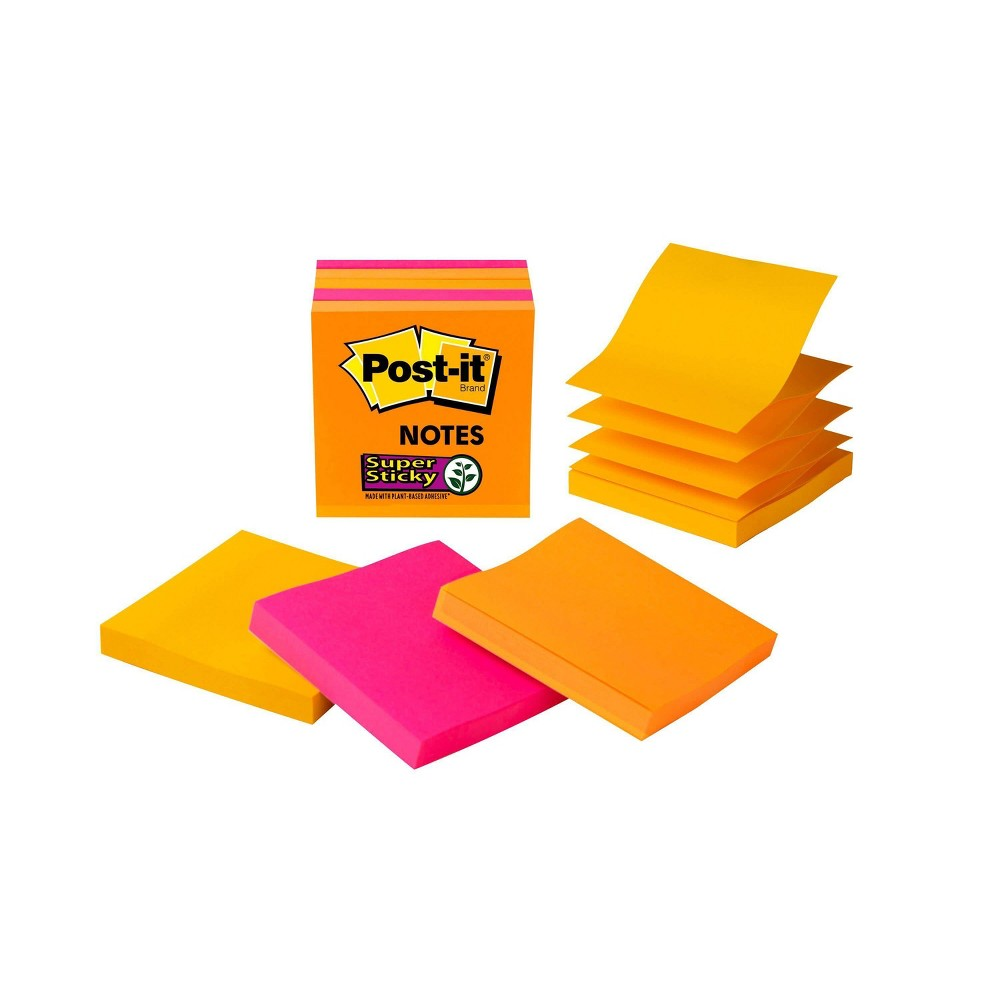 "Image of ""Post-it 90ct 3"""" x 3"""" Super Sticky Pop-Up Notes"""