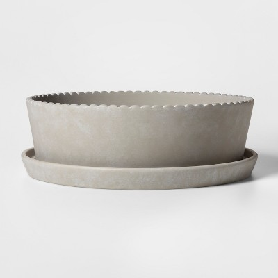 12.7  x 4  Terra Cotta Planter Gray - Smith & Hawken™