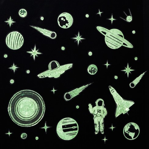 Grow-in-the-Dark Stars Wall Decals - Pillowfort™ - image 1 of 3