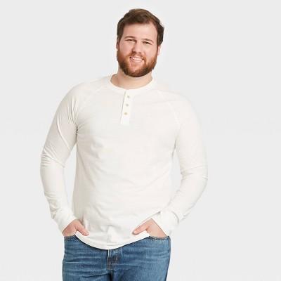 Men's Regular Fit Long Sleeve Henley T-Shirt - Goodfellow & Co™