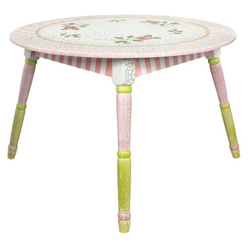 Teamson Crackled Rose Table Wood/Crackled Rose - image 1 of 4