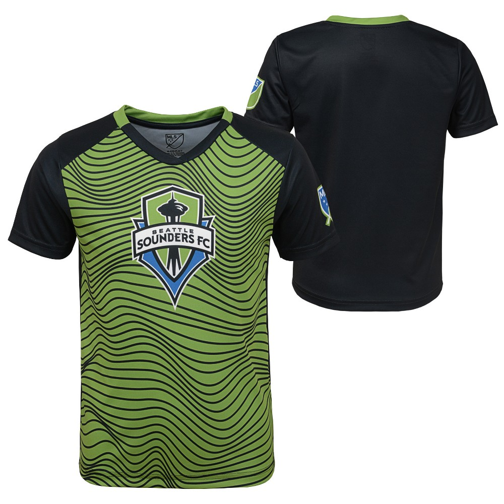 Boys' Short Sleeve Game Winner Sublimated Performance T-Shirt Seattle Sounders M, Multicolored