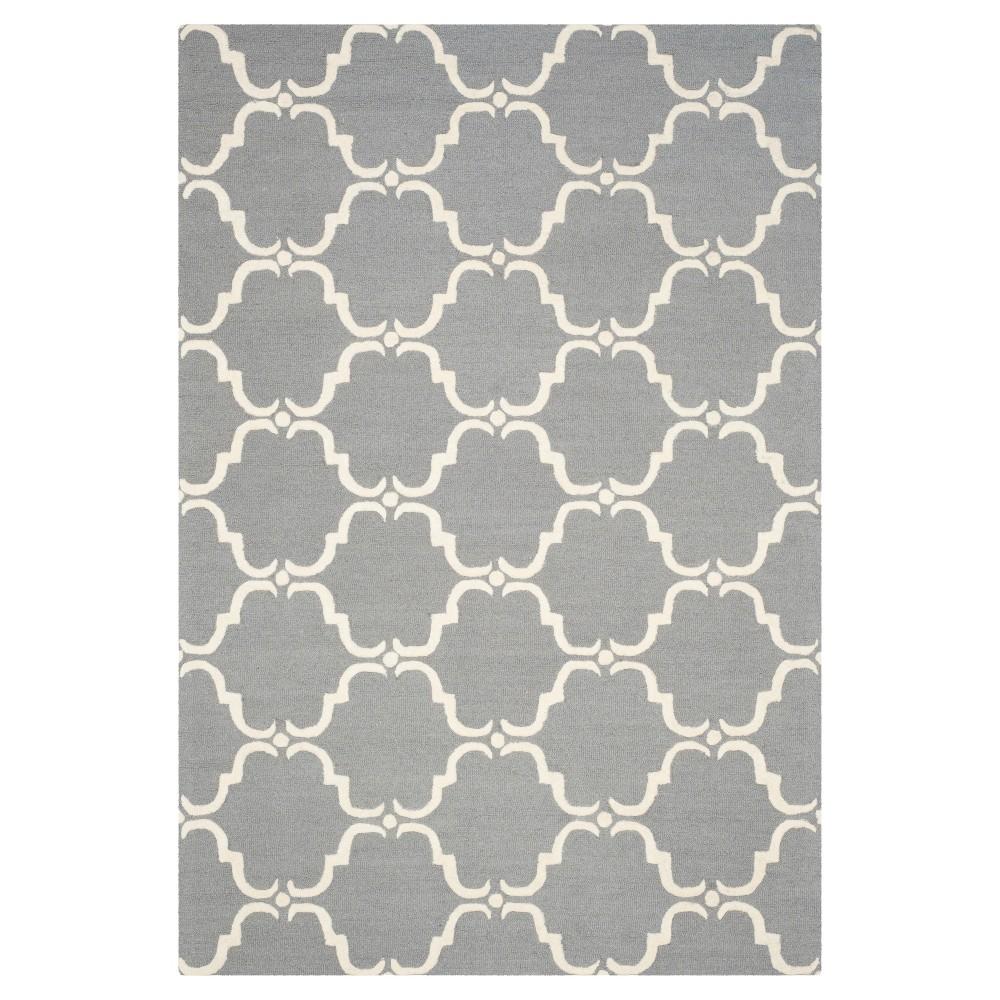 Safavieh Lina Area Rug - Dark Grey / Ivory ( 6' X 9' ), Dark Gray/Ivory