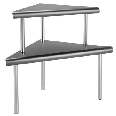 mDesign Metal 3-Tier Corner Storage Shelves for Kitchen Countertop