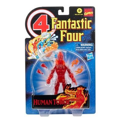 Hasbro Marvel Legends Series Retro 6in Fantastic Four The Human Torch Figure