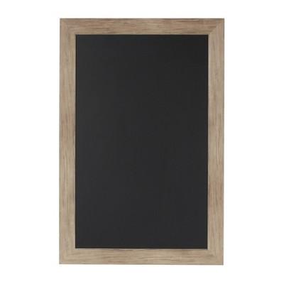 "27"" x 18"" Beatrice Framed Magnetic Chalkboard Rustic Brown - DesignOvation"