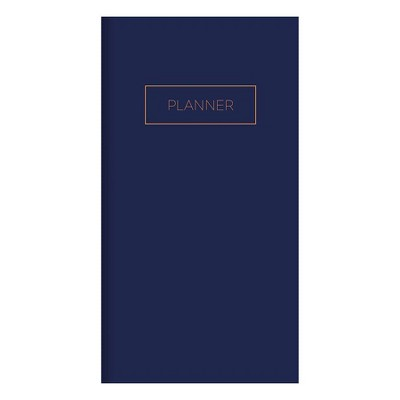 """Undated Pocket Planner 3.5"""" x 6.5"""" Monthly Classic Navy - TF Publishing"""