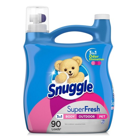 Snuggle Plus Super Fresh Liquid Fabric Softener, Spring Burst, 95 fl oz , 90 Loads - image 1 of 4