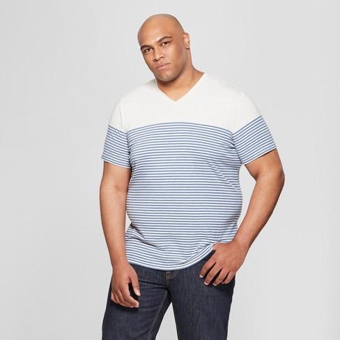 Men s Big   Tall Short Sleeve V-Neck T-Shirt - Goodfellow   Co™ Riviera Blue f0f122d9abd8