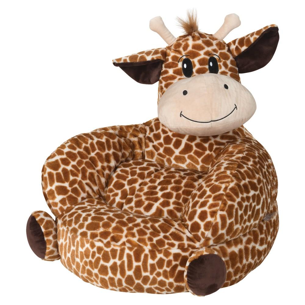 Image of Children's Plush Character Chair - Giraffe Bronze - Trend Lab