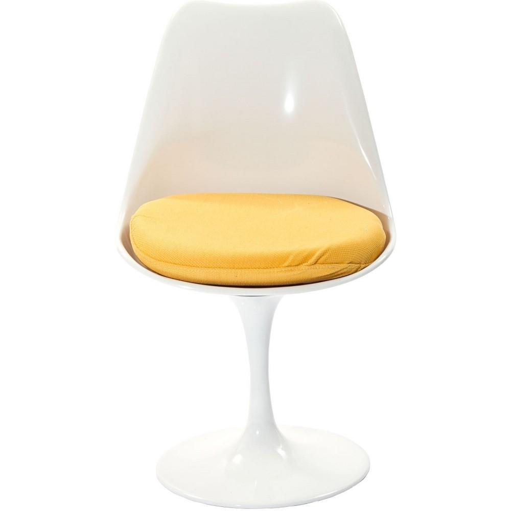 Lippa Dining Fabric Side Chair Yellow - Modway