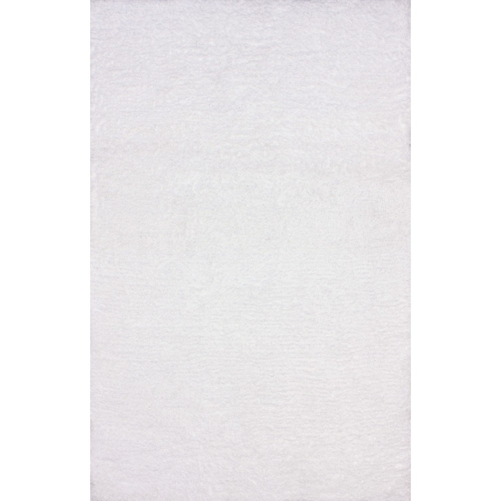 nuLOOM Hand Tufted Maginifique Shag Area Rug - White (6' x 9'), Snow