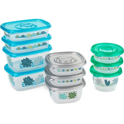 Glad Food Storage Containers   Glad Match Ware Variety Pack   10 Containers    20pc Set