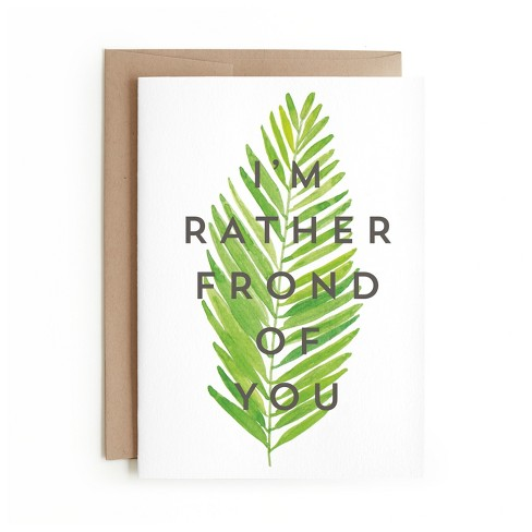Minted I'm Rather Frond Of You Card - image 1 of 1