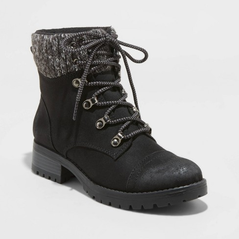 Women's Danica Microsuede Lace-Up Boots - Universal Thread™ - image 1 of 3