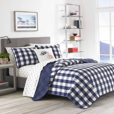 Lake House Plaid Quilt Set Blue - Eddie Bauer