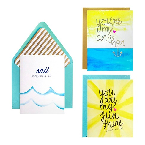 meant to be sent® Summer Love Notecards 3 ct - image 1 of 2