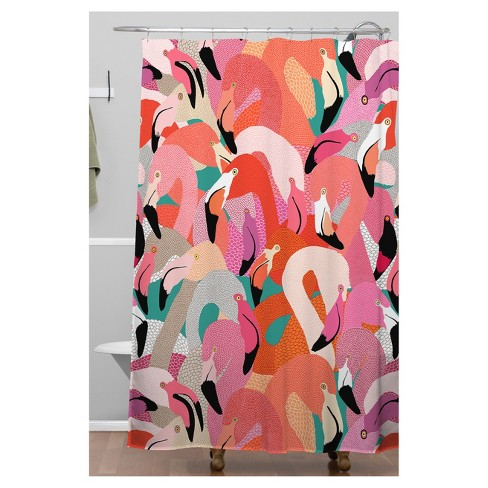 Flamingo Shower Curtain Pink