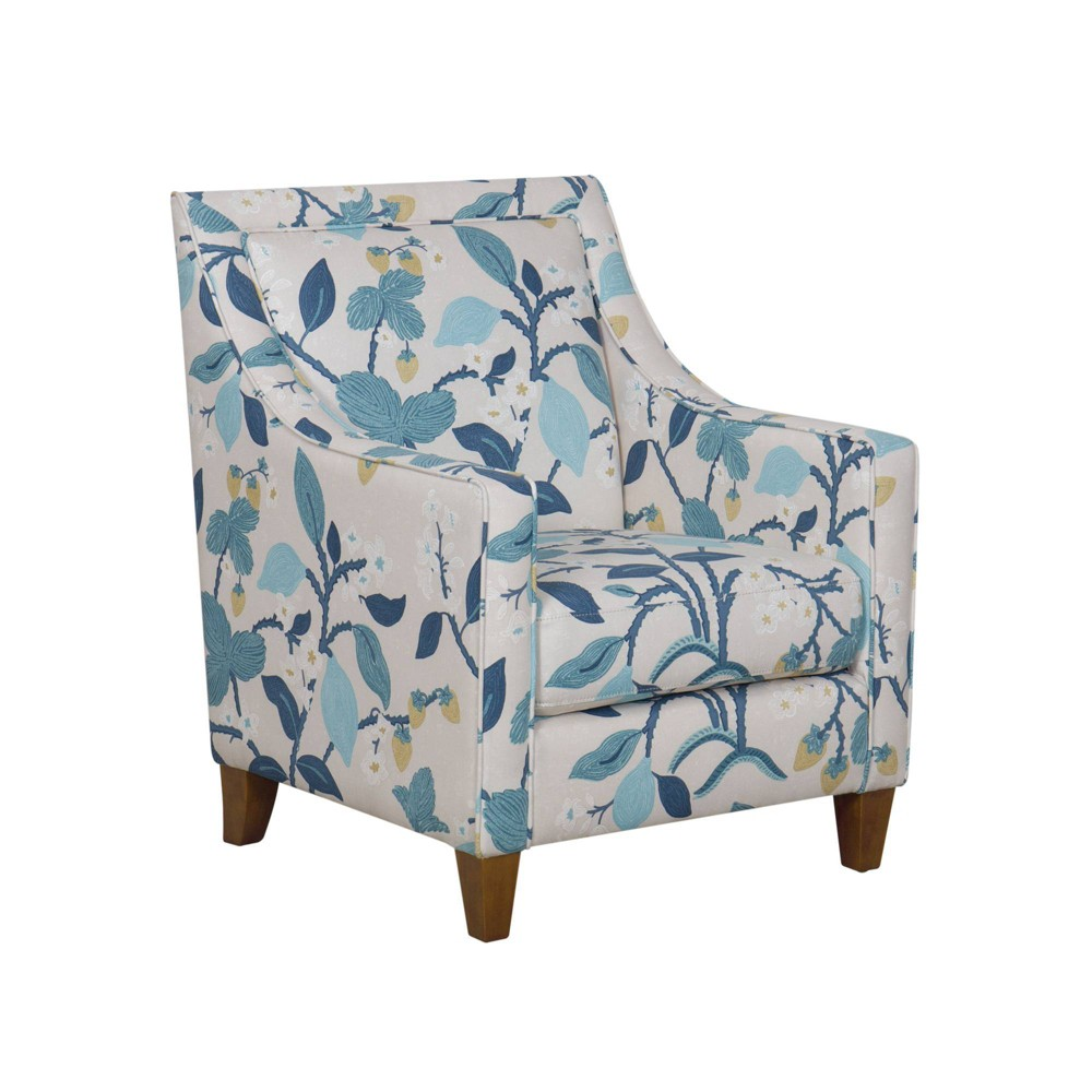 Pleasing Edwin Accent Chair Modern Floral Blue Homepop Gmtry Best Dining Table And Chair Ideas Images Gmtryco