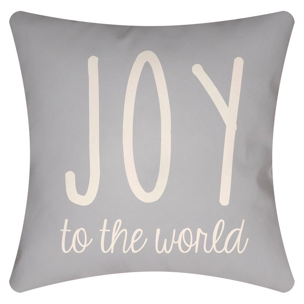 Gray Season's Joy Throw Pillow 18