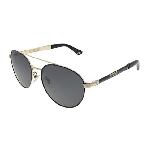 Police Origins 4 SPL 891 301P Unisex Pilot Polarized Sunglasses Black on Gold 55mm - image 1 of 3