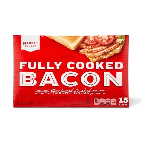 Pre-Cooked Bacon - 2.1oz - Market