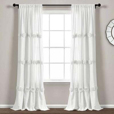 "84""x40"" Darla Light Filtering Window Curtain Panels - Lush Décor"