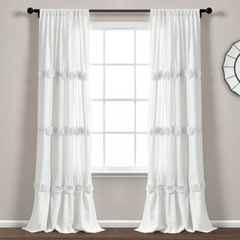 "84""x40"" Darla Light Filtering Window Curtain Panels - Lush Décor - image 1 of 4"