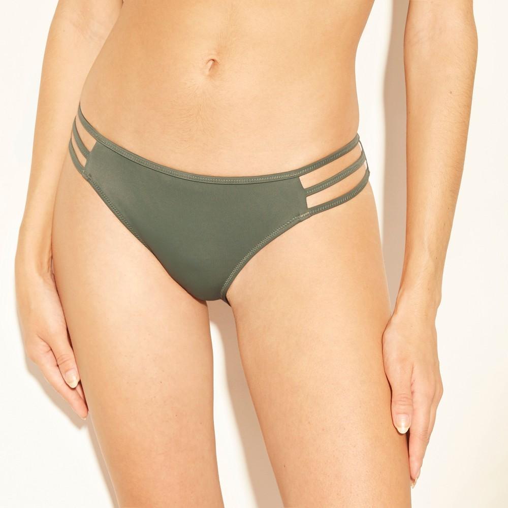 Women's Sun Coast Cheeky Strappy Bikini Bottom - Shade & Shore Army Green XS