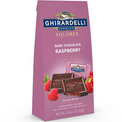 Ghirardelli Dark Chocolate & Raspberry Filling Squares - 6.38oz