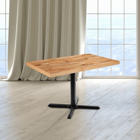 Flash Furniture 30 X 48 Rectangle Butcher Block Style Table Top Target