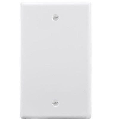 Monoprice 1-Gang Blank Wall Plate - White  for Home ,Office, Personal Install