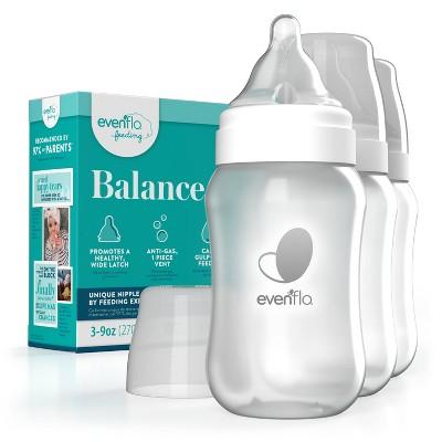 Evenflo 3pk Balance Wide-Neck Anti-Colic Baby Bottles - 9oz