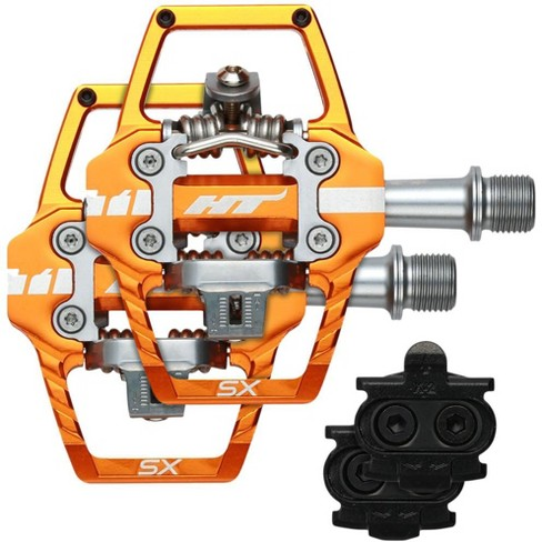 "HT T1-SX Clipless Pedal: 9/16"" Orange - image 1 of 2"