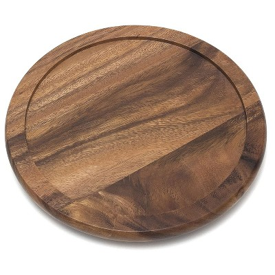 Lipper International 10-Inch Environmentally Friendly Acacia Kitchen Turntable with No-Slip Outer Lip