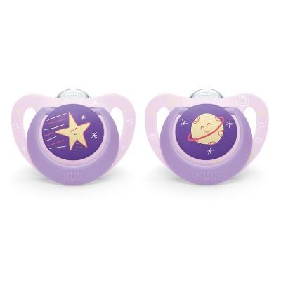 NUK 2pk Genius Pacifier - Purple - Size 1