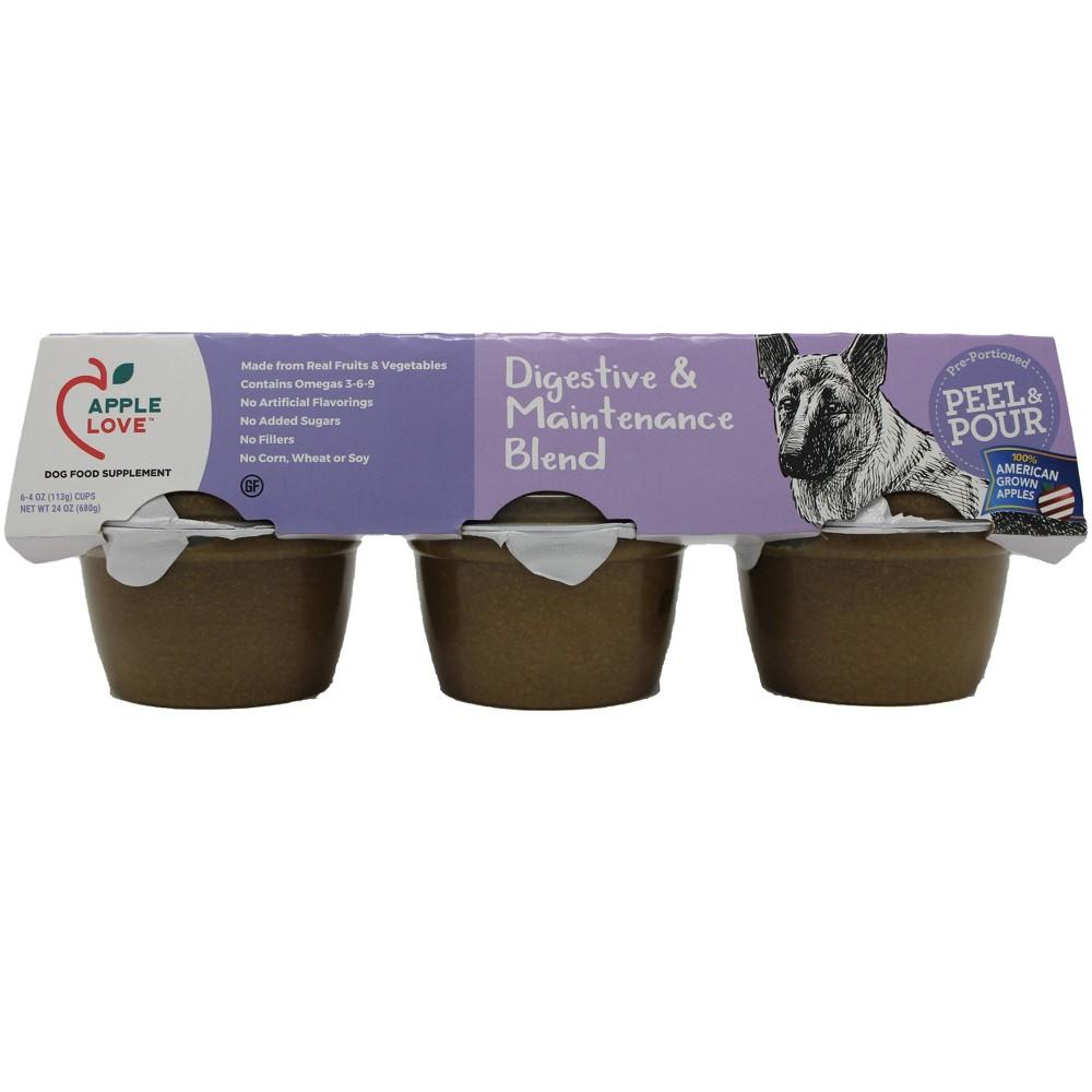 AppleLove Wet Dog Food Supplement Digestive & Maintenance Blend - 4oz/6ct Pack Promos