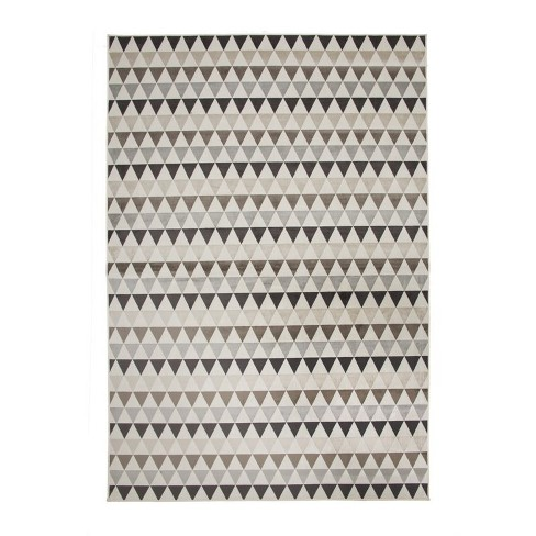 Abacasa Sonoma Brentwood Ivory-Charcoal-Brown 8x11 Area Rug - Sam's International - image 1 of 1