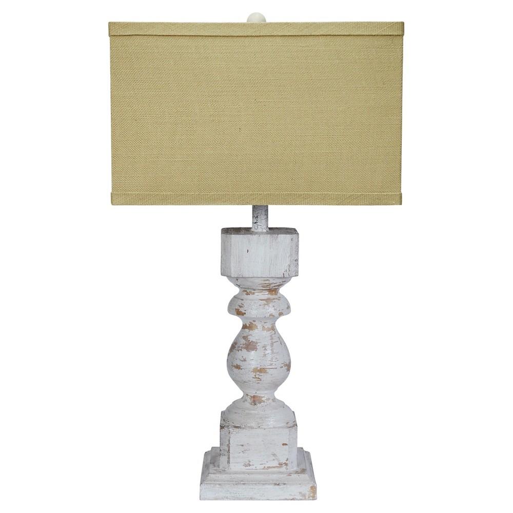 Wood & Metal Table Lamp, Multi-Colored