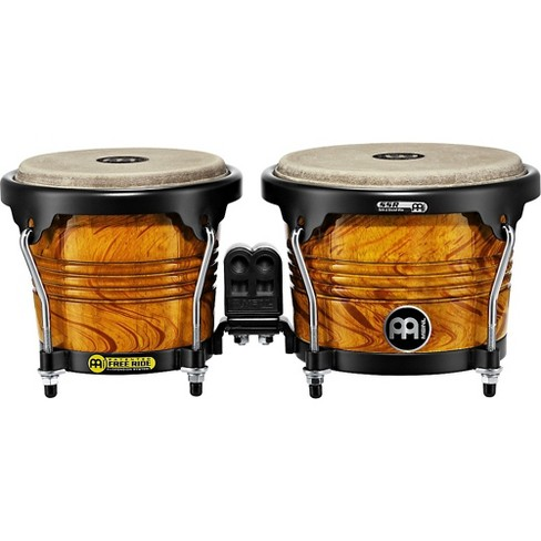Meinl Free Ride Designer Series Wood Bongo Set Amber Flame 6-3/4 in. and 8 in. - image 1 of 1