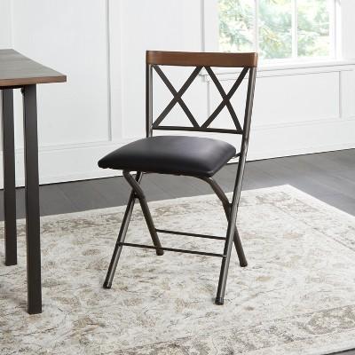 18  Folding Metal Dining Chair Gunmetal - Cheyenne Products