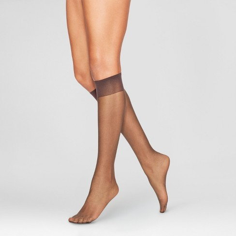 96cc2f214cb L eggs Women s Plus Size 8pk Everyday Knee High Pantyhose - Suntan ...
