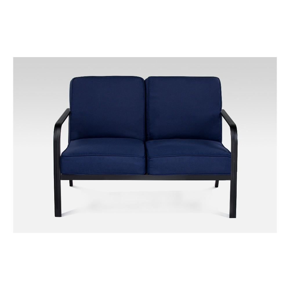 Ft. Walton Steel Patio Loveseat - Navy (Blue) - Project 62