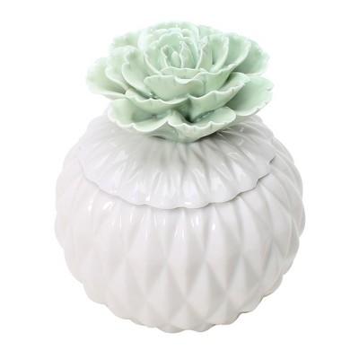 4.9oz Figural Ceramic Jar Candle Hibiscus Palm - Opalhouse™