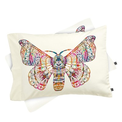 Stephanie Corfee Artsy Moth Pillow Sham Standard Pink - Deny Designs
