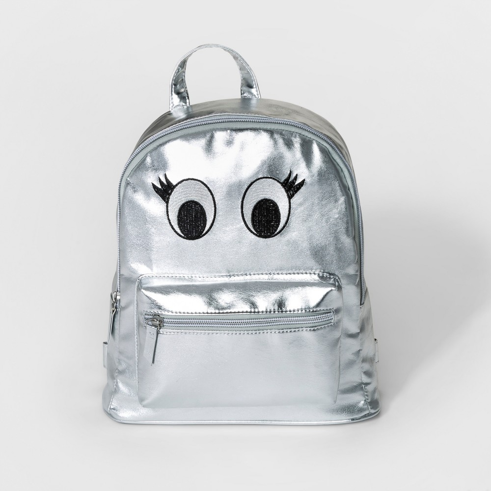 Girls' Dome Mini Backpack with Eyes - Cat & Jack Silver