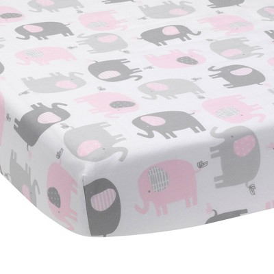 Bedtime Originals Baby Fitted Crib Sheet - Eloise Elephant
